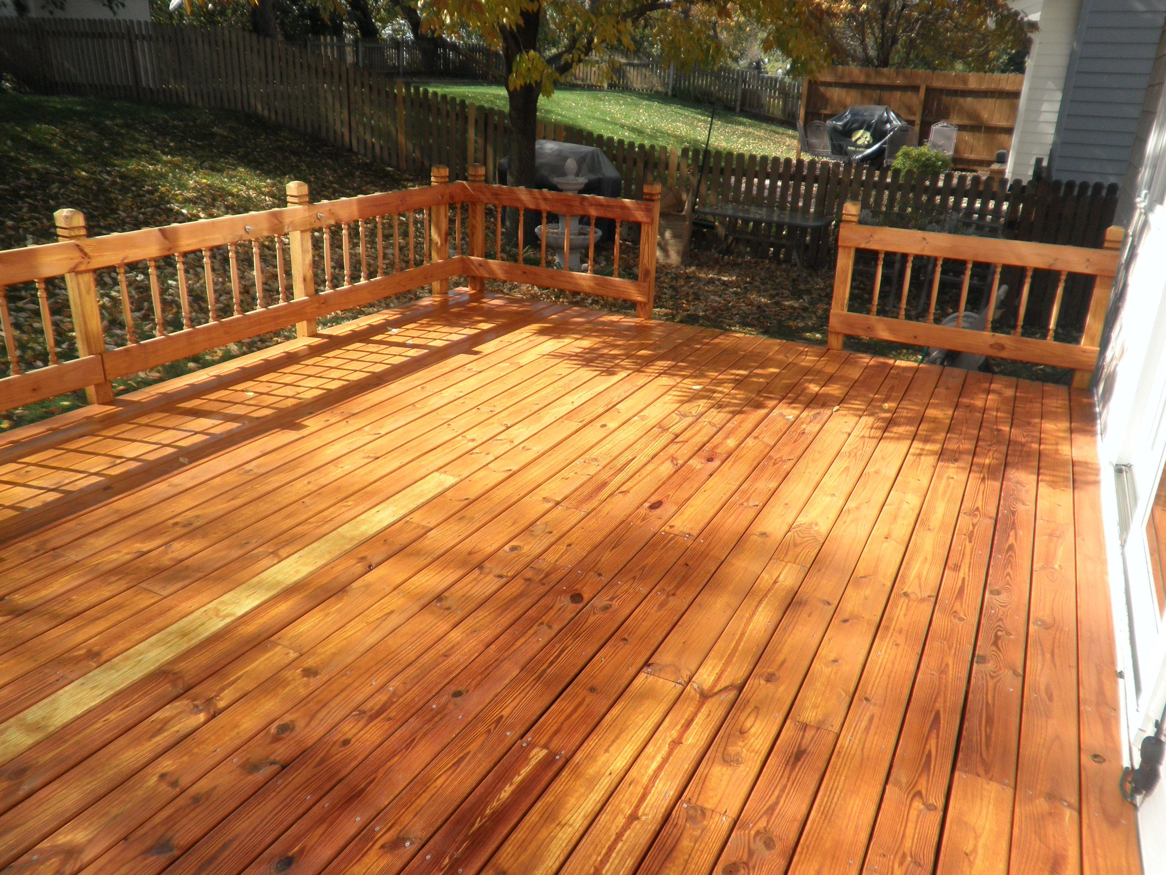 Deck Stripped Then Applied Cabot Toner Cedar Deck Deck