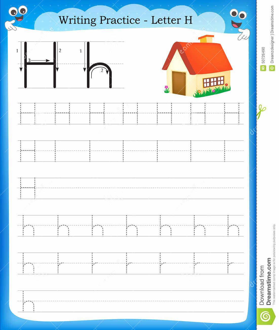 Worksheets For Kindergarten Letter H In