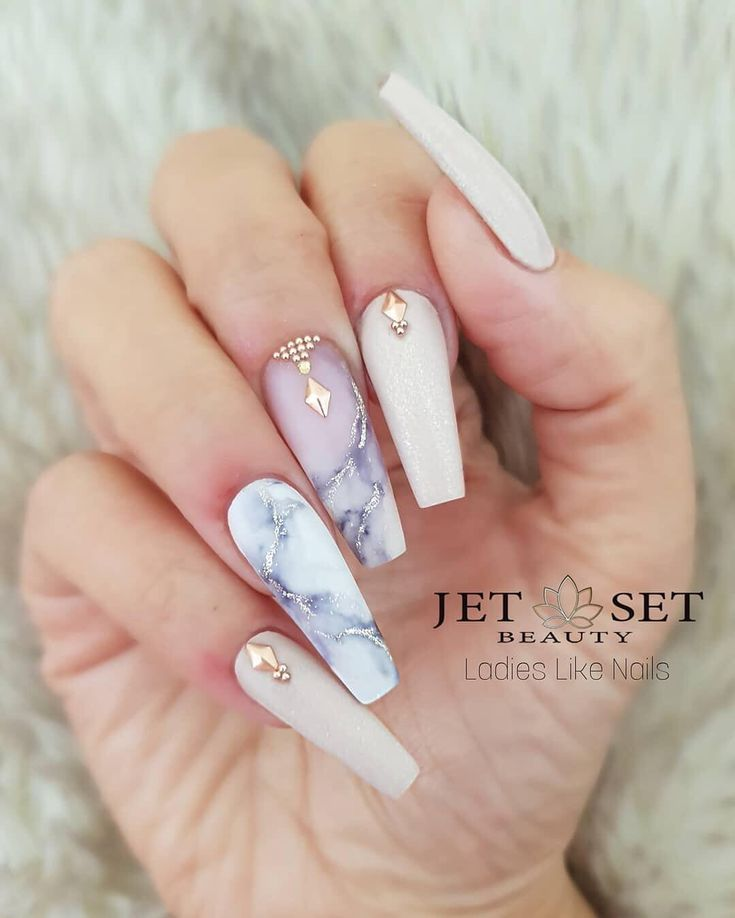 """Glam and Glits Nail Design on Instagram: """"We are swooning over this marble mani�� The @GlamAndGlitsNails Color Blend Collection is perfect for re-creating this look. Use 'Wink…"""""""