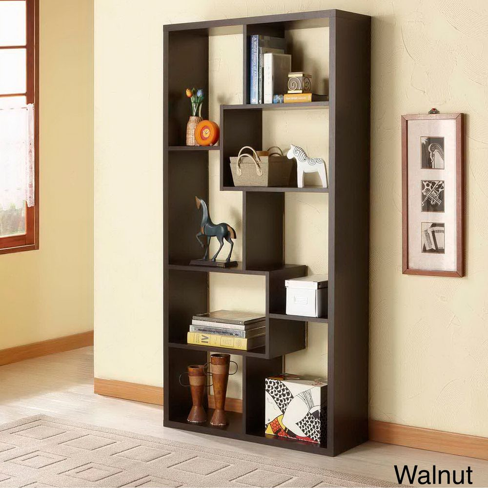 Furniture of America Verena Contoured Leveled Display Cabinet ...