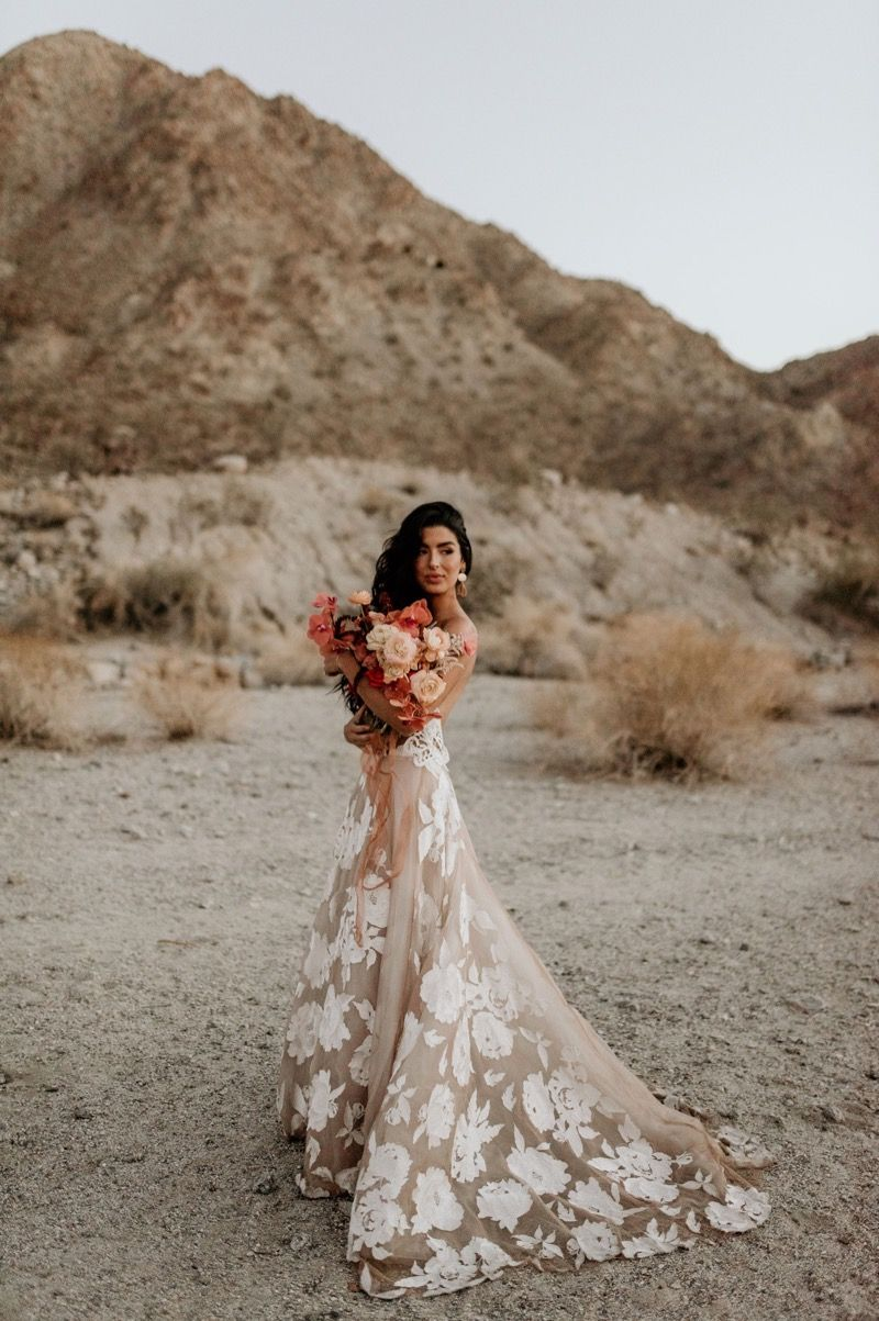 Palm Springs Styled Shootout Elope Wedding Bridal Shoot