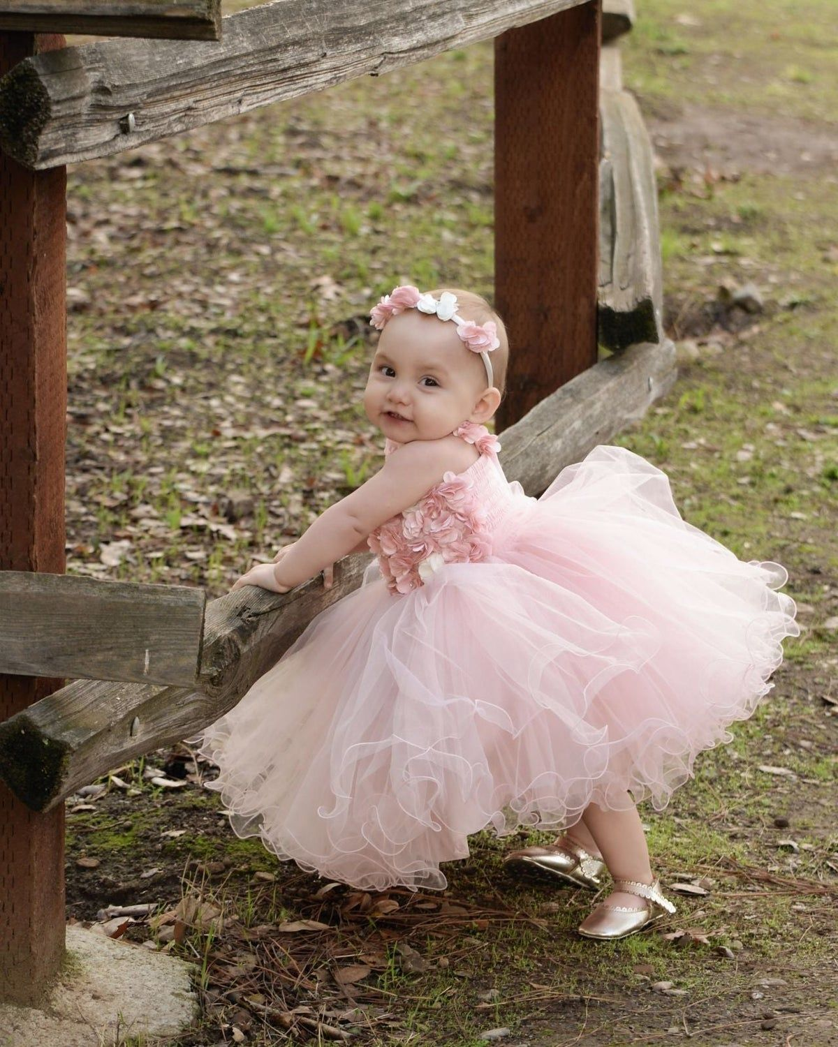 Size 1 Year Old Pink Birthday Dress And Baby Girl Birthday Dress Pink Birthday Dress Infant Flower Girl Dress