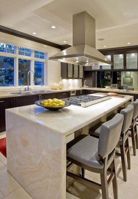 All You Need To Know About The Waterfall Countertop Trend