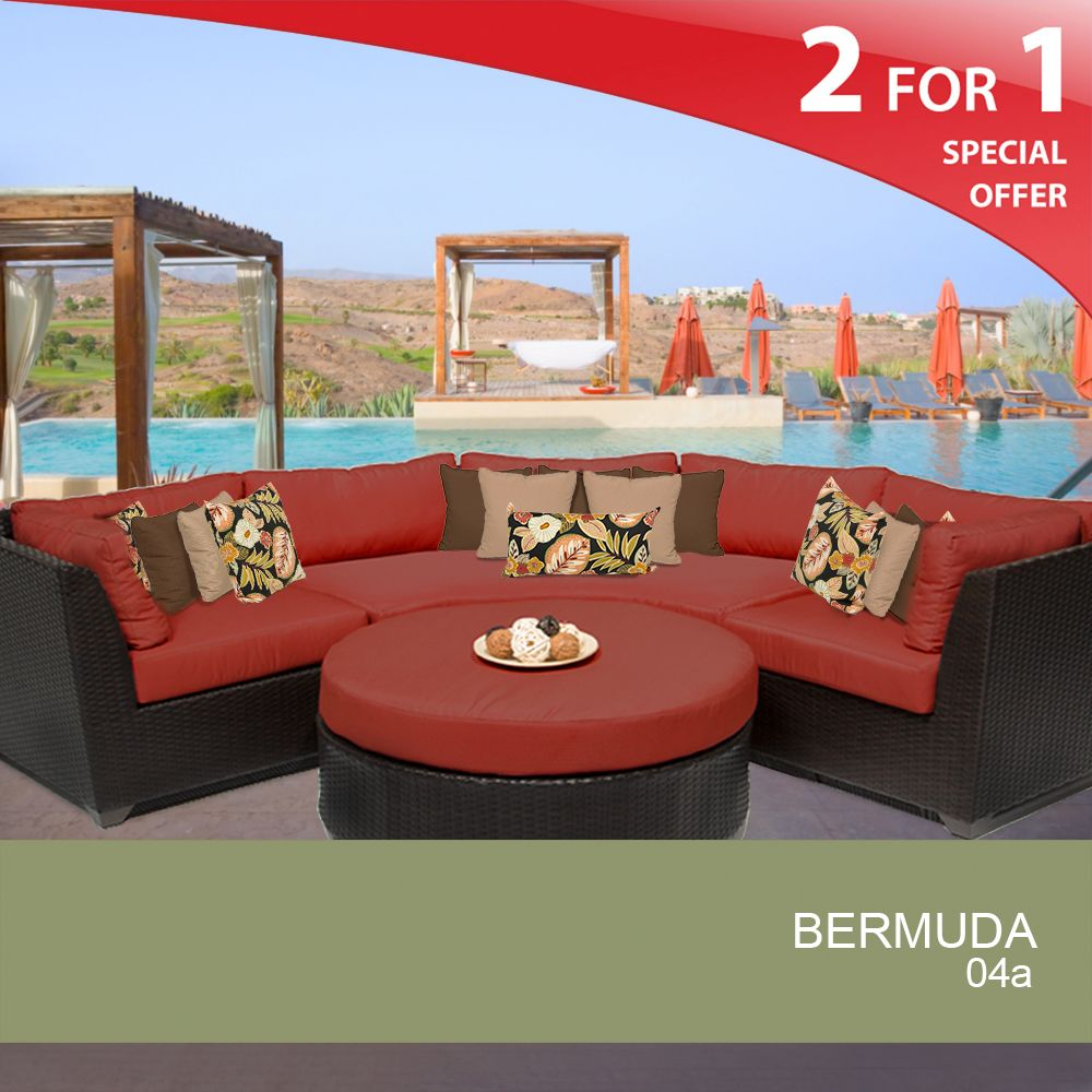 Bermuda 4 Piece Outdoor Wicker Patio Furniture Set 04A