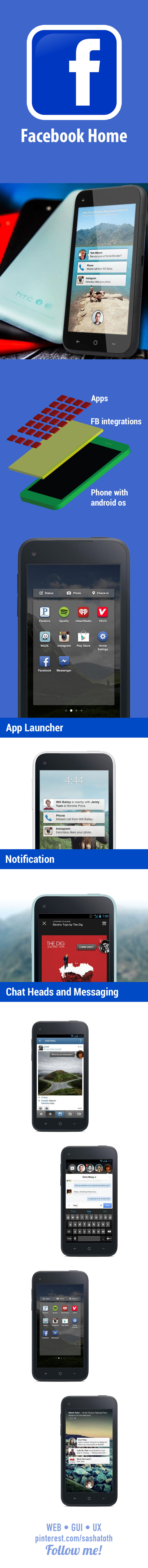Facebook Home / Facebook Phone • Facebook announced Thursday its big mobile plans for Android: Facebook Home. Although it will initially be available only on a few models, Facebook Home represents how Facebook wants to exist on Android phones... • via Mashable #facebook #facebookphone #facebookhome