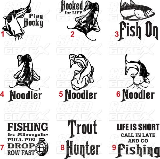 Fish Sayingsdecalstickerrainbow Troutcatfishbassfunny - Decals for boat motorsoutboarddecalscom s of decals in stock