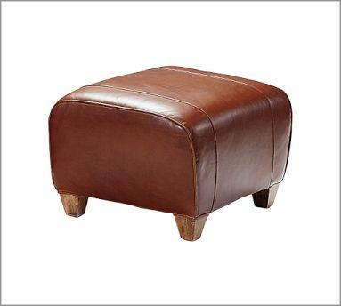Decor Look Alikes Pottery Barn Manhattan Leather Ottoman