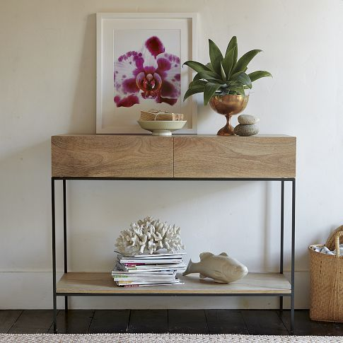 Industrial Storage Console Hallway Table Decor Console Table