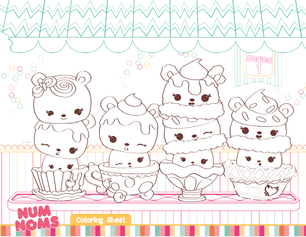 - We Have A Few Num Noms Colouring Pages On The Site, Here Is Another One.  Why Not Check Out The Other Num Noms… Cute Coloring Pages, Coloring  Pages, Coloring Books