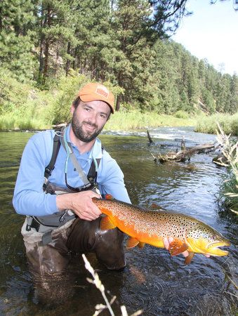 This fisherman was seen flyfishing in rapid creek one of for Black hills fly fishing