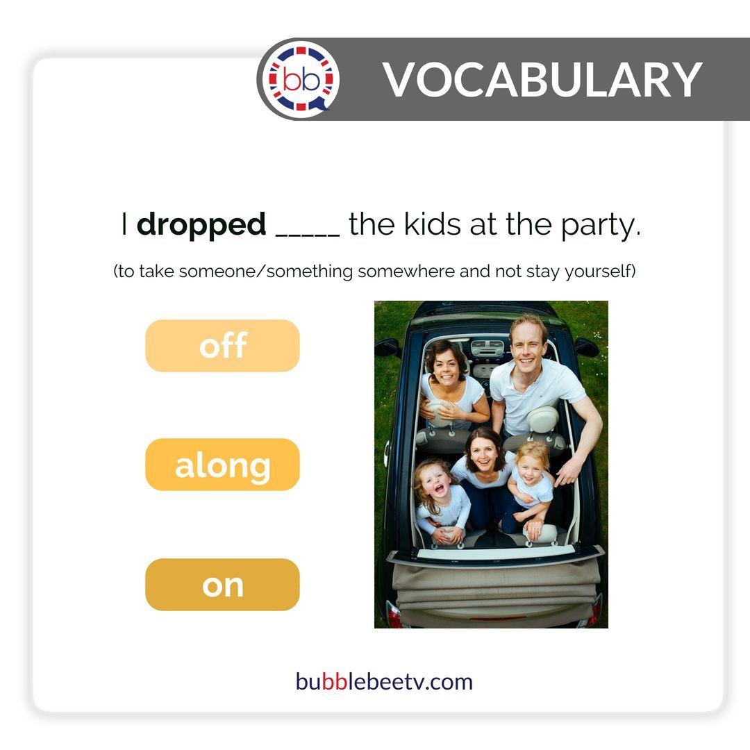 drop off meaning   slang English   spoken English ...