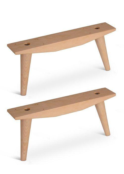 Mccobb Mid Century Modern Feet Angled Cleat Set 4 Feet 2 Cleats Mid Century Modern Cabinets Wood Table Legs Modern Table Legs
