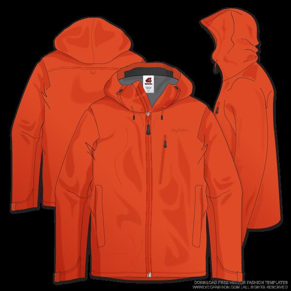 Download Men Climbing Jacket Vector Template Vecfashion Desain