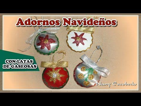 YouTube navidad Pinterest Adornos navideños, Youtube y Latas