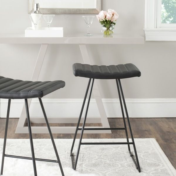 Superb Safavieh Akito Black 26 Inch Counter Stool Set Of 2 Cjindustries Chair Design For Home Cjindustriesco