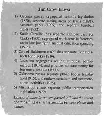 Jim Crow laws of segregation   Jim crow laws. Jim crow. Crow