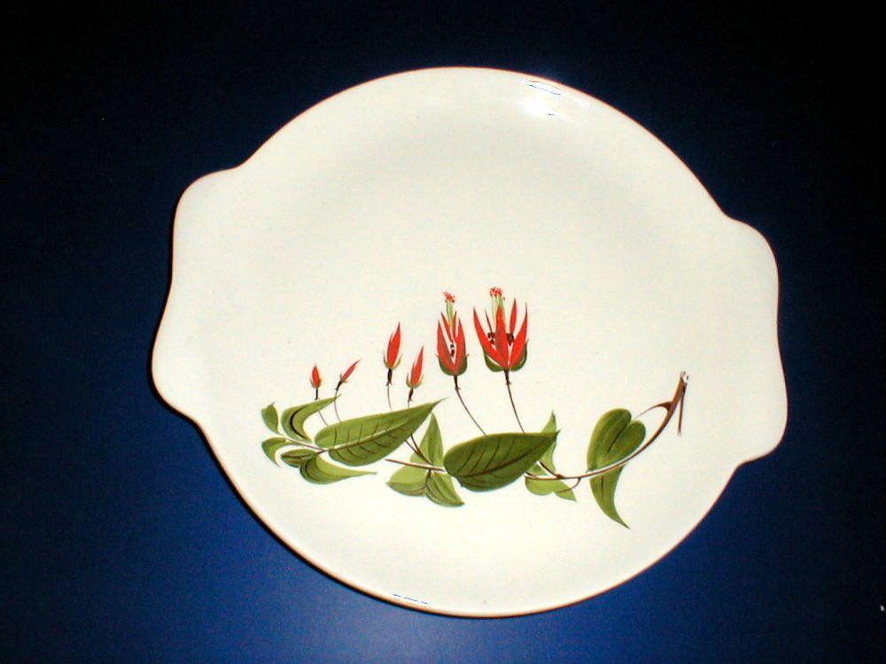 Salem China PRIMROSE Red Flower Cake Plate & Salem China PRIMROSE Red Flower Cake Plate | Lovely and vintage ...