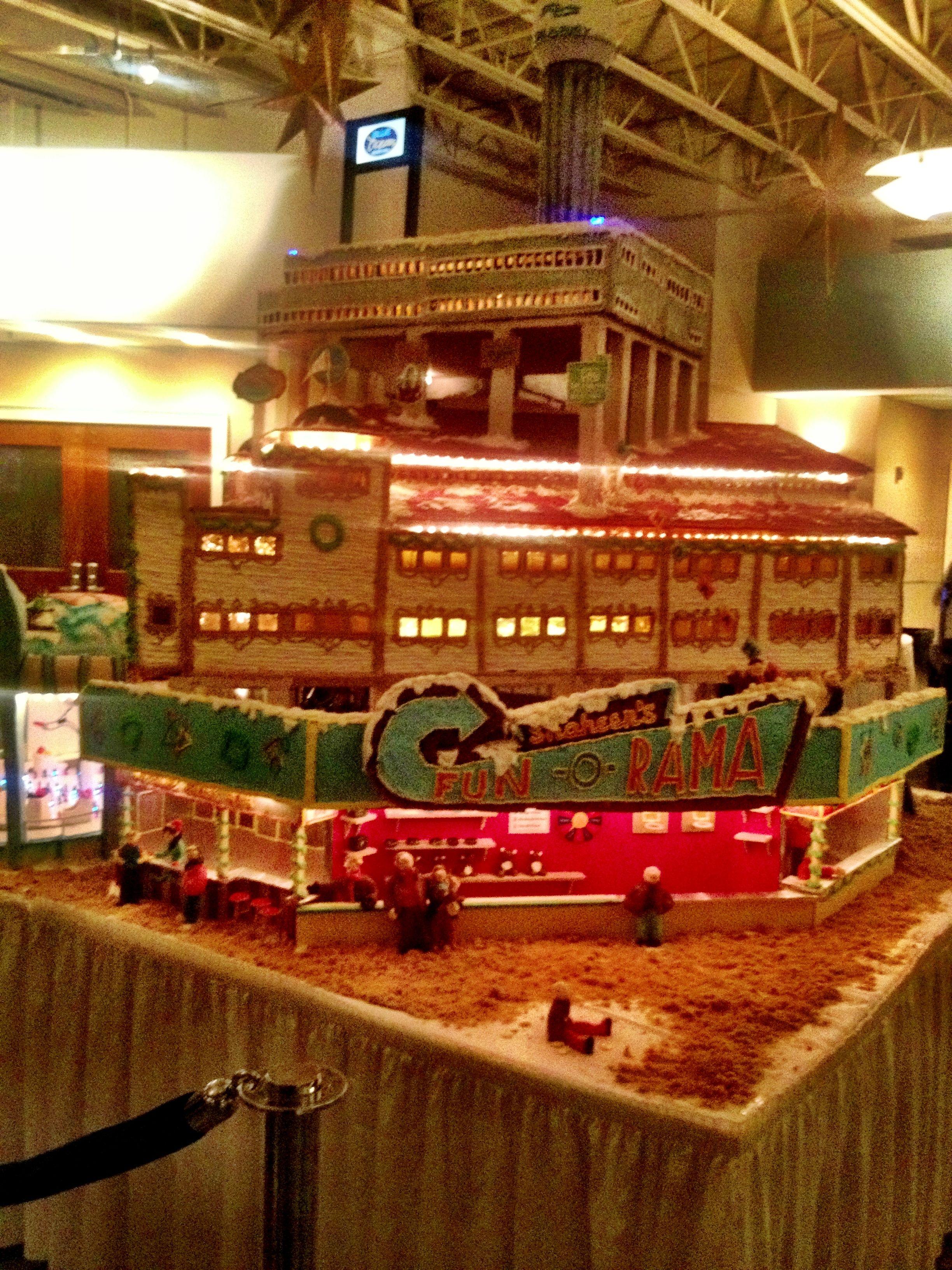 100 lb. Gingerbread house of Salisbury Beach Pavilion at