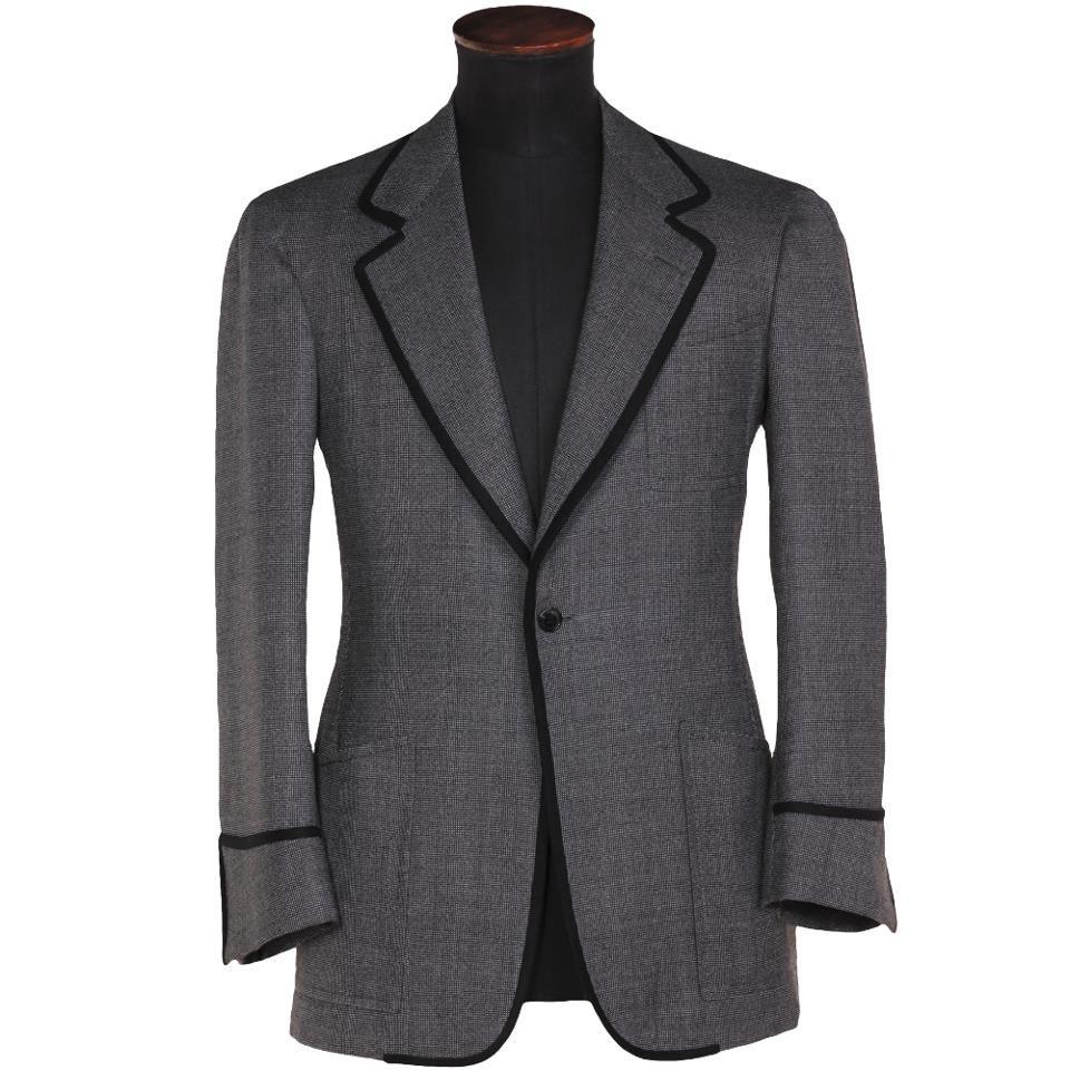 JAMES MORGAN Boys Checkered Boys Blazer with Classic Lapel Formal Suit Jacket