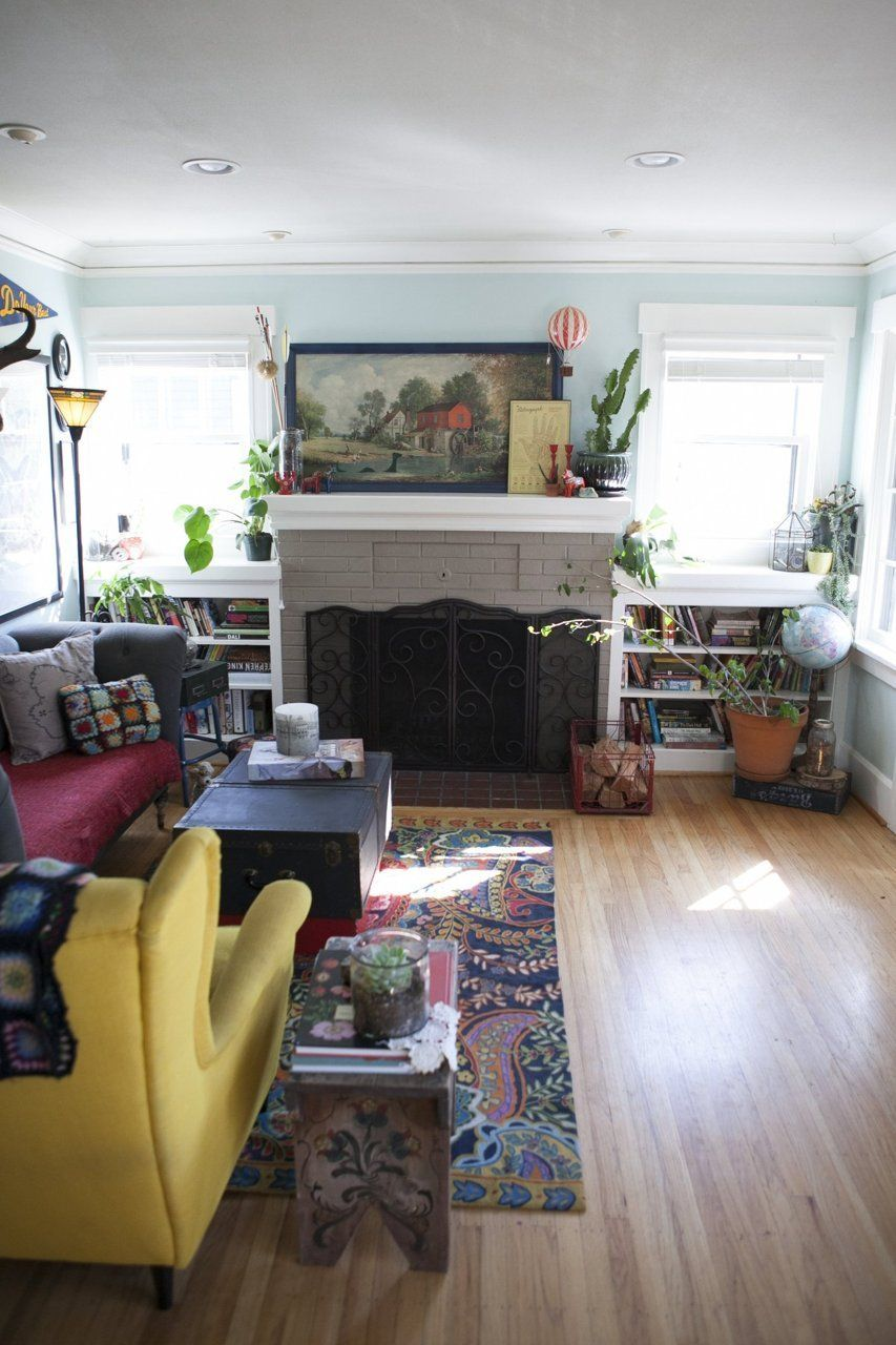 Name: Irina and Daniel Schaffer, and kids Lily (7) and Milo (4) Location: Beaumont-Wilshire Neighborhood; Portland, Oregon Size: 1520 square feet Years lived in: 5 years; owned Irina and Daniel, their two young children Lily and Milo, and their rambunctious dog Oscar, live in a whimsically decorated old home in Northeast Portland. Irina is an avid collector of vintage objects and jewelry maker (her jewelry line: Moss & Mirror), and has a knack for creating vignettes and wall galleries th...