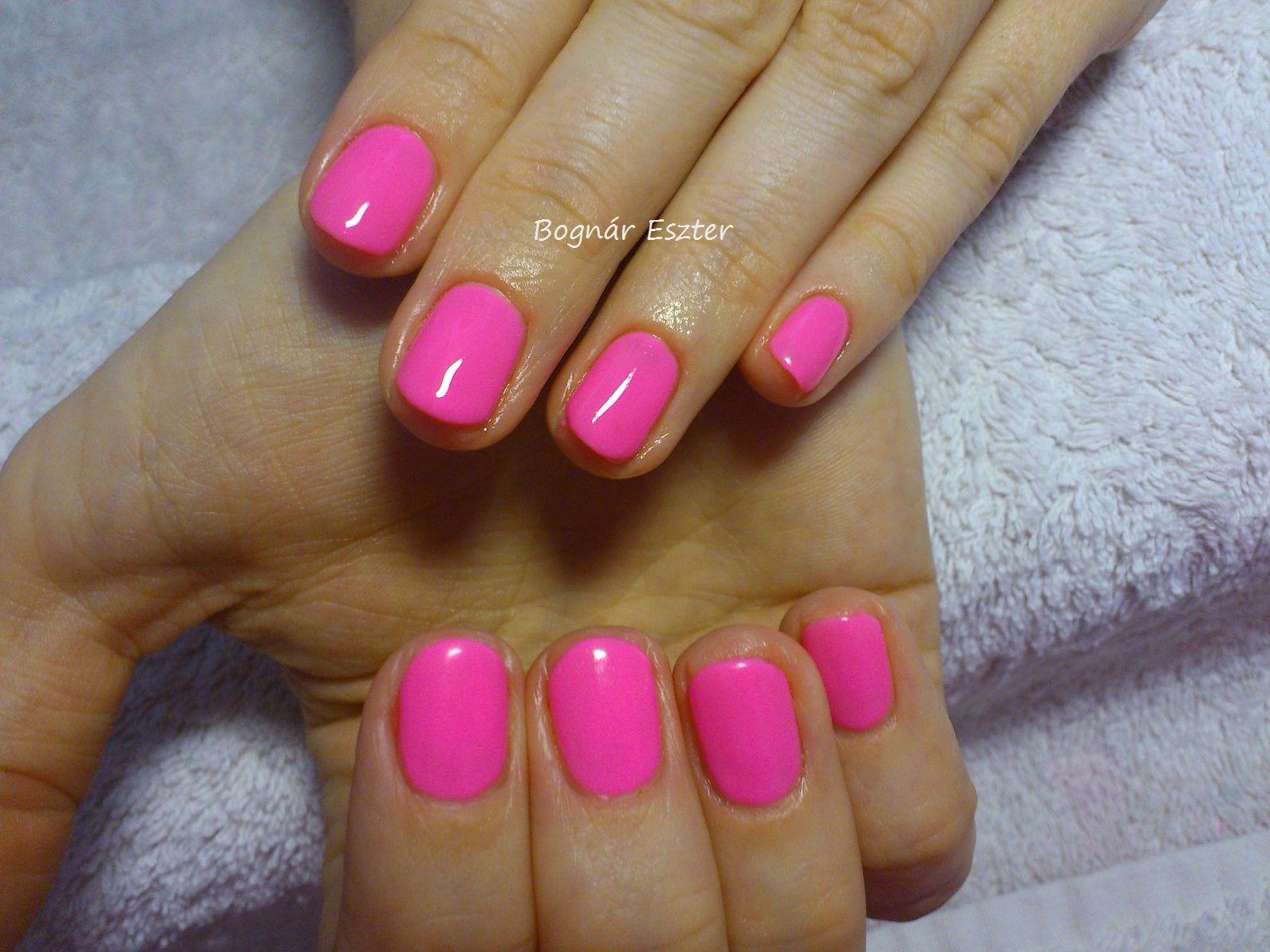 Gelish-Make You Blink Pink # neon pink nails | www.facebook.com/be ...