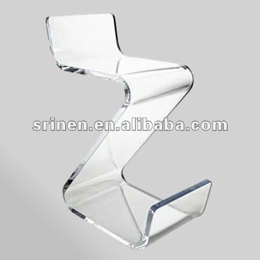 clear acrylic zig zag chaise lucite z