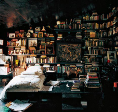 Bedroom Bookshelves   Now This Is One Cozy Bedroom I Could Spend The Entire  Day In
