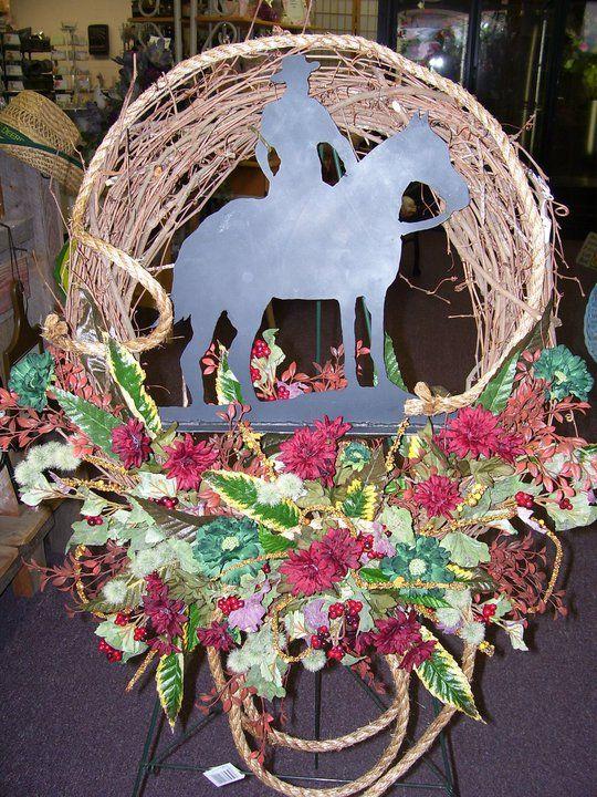 Classroom Decor Trends ~ Western cowboy rope wreath creative custom funeral