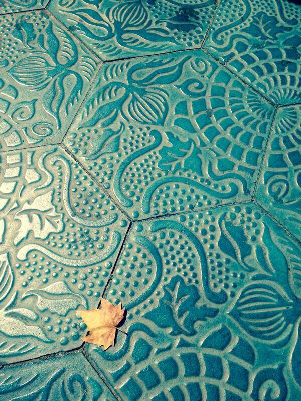 Tile design in Barcelona,Spain