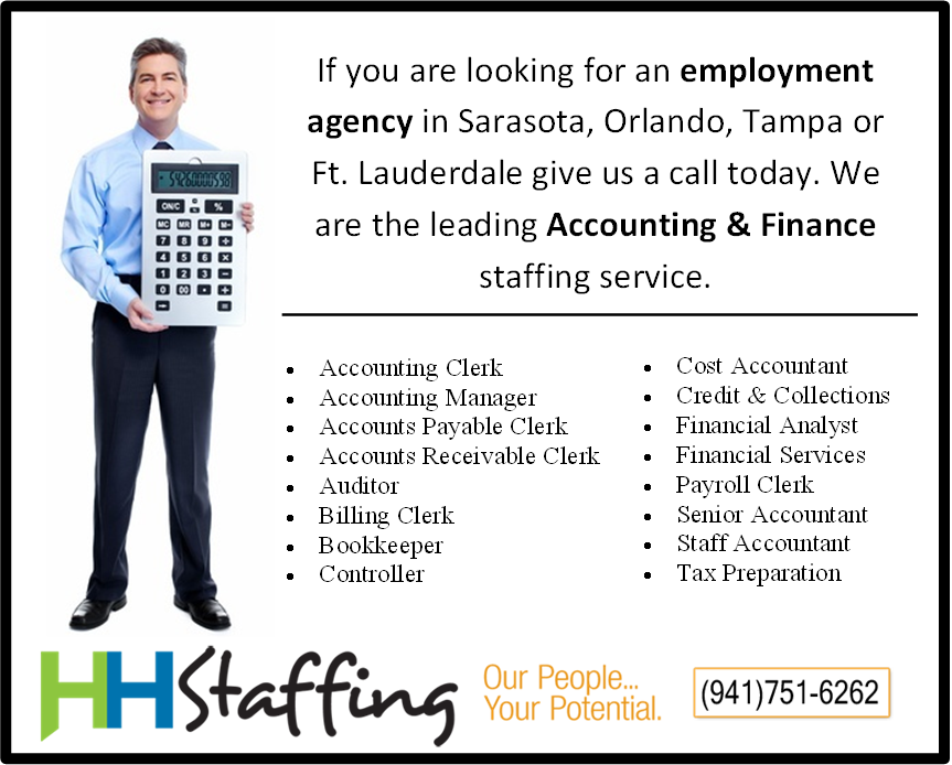 HH Staffing Services is now hiring Accountants at
