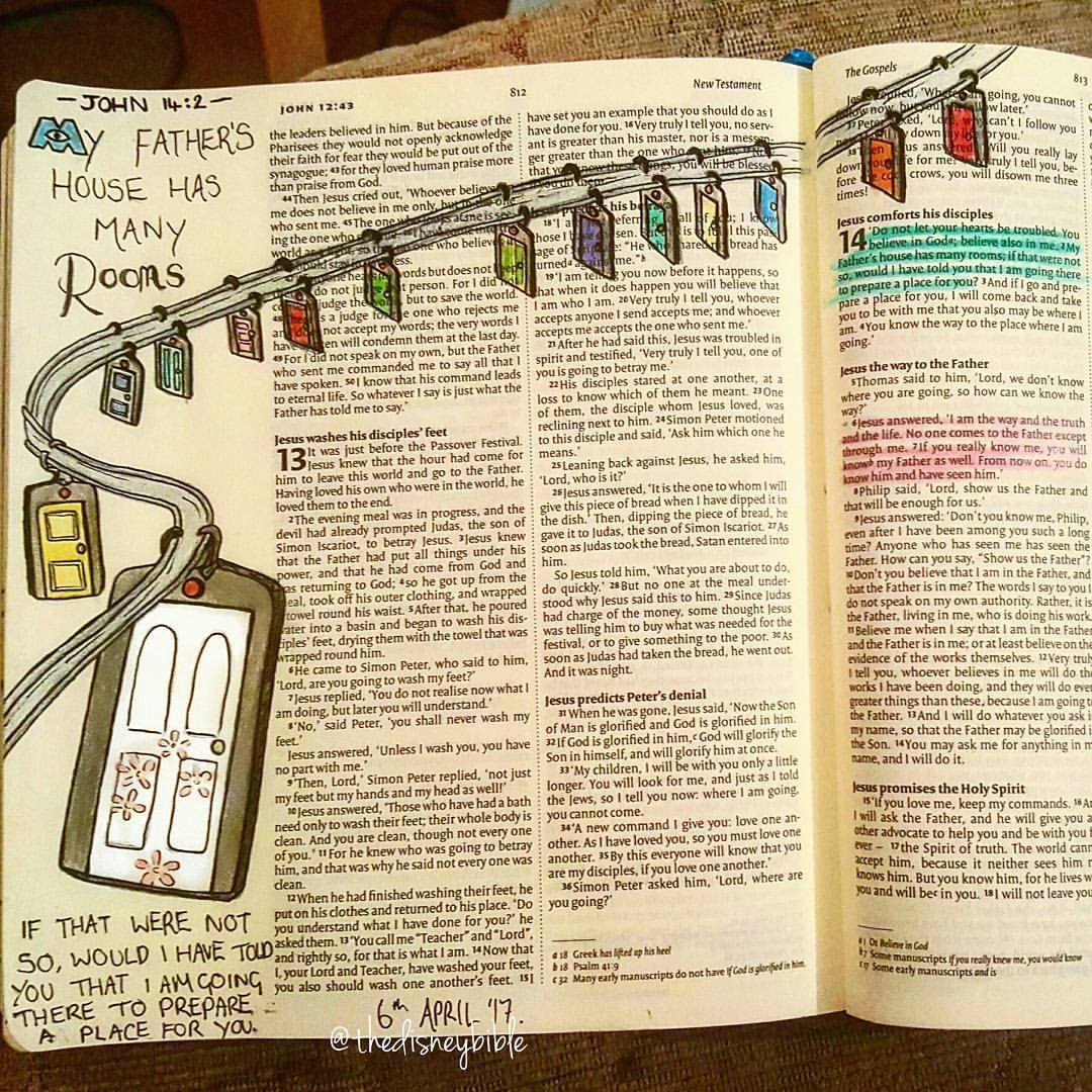 58 Likes, 3 Comments Disney bible journalling