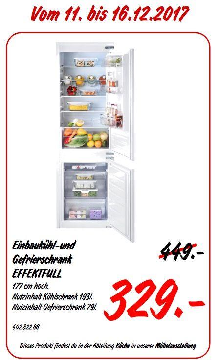 IKEA EFFEKTFULL Einbaukühl- und -Gefrierschrank   Haus & Garten ...
