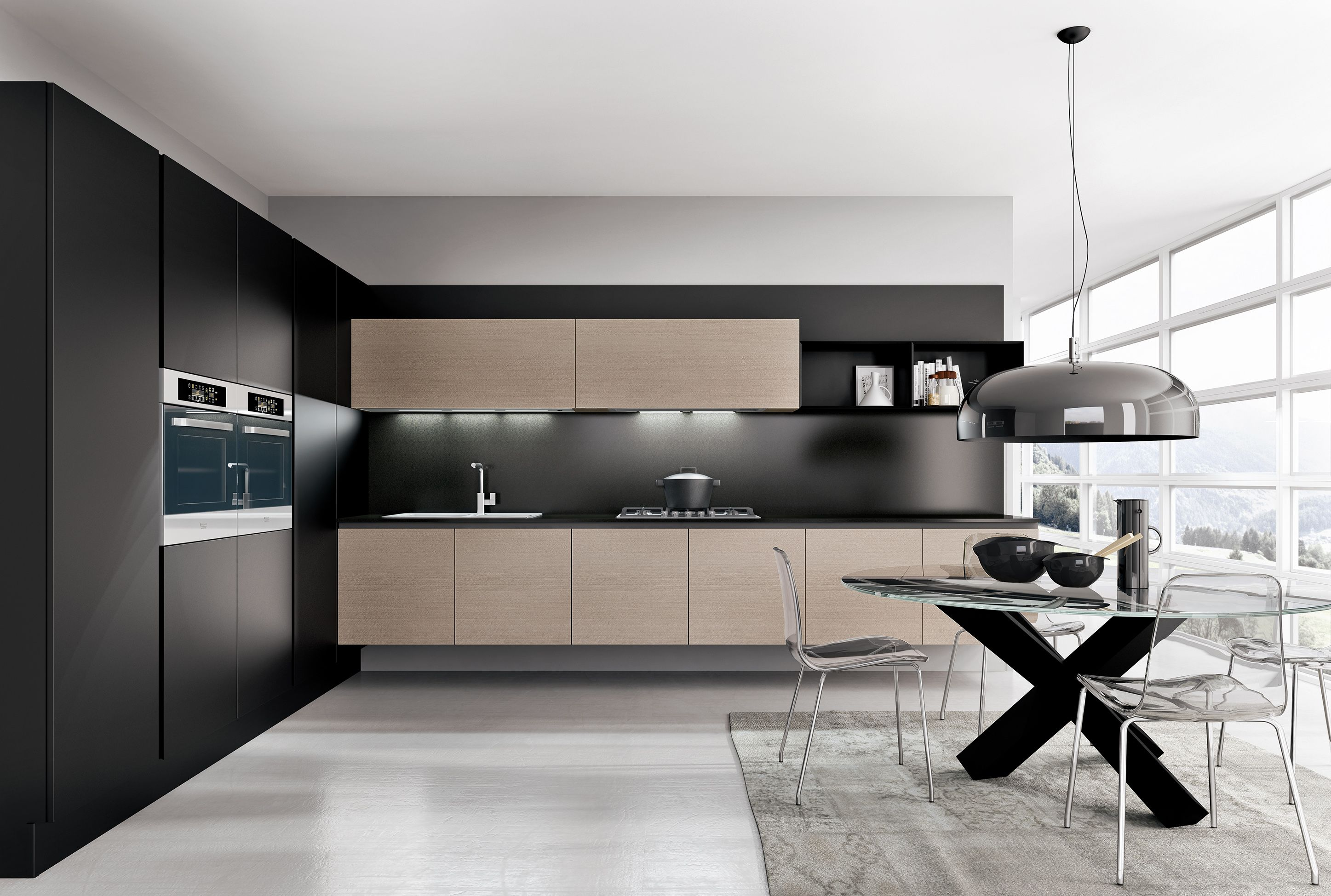 armony cucine - model omicron   model_kitchens with grip grooves
