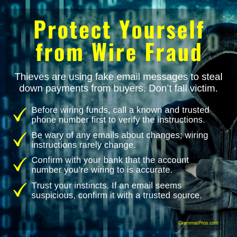 instructions for protecting yourself from mortgage wire ...
