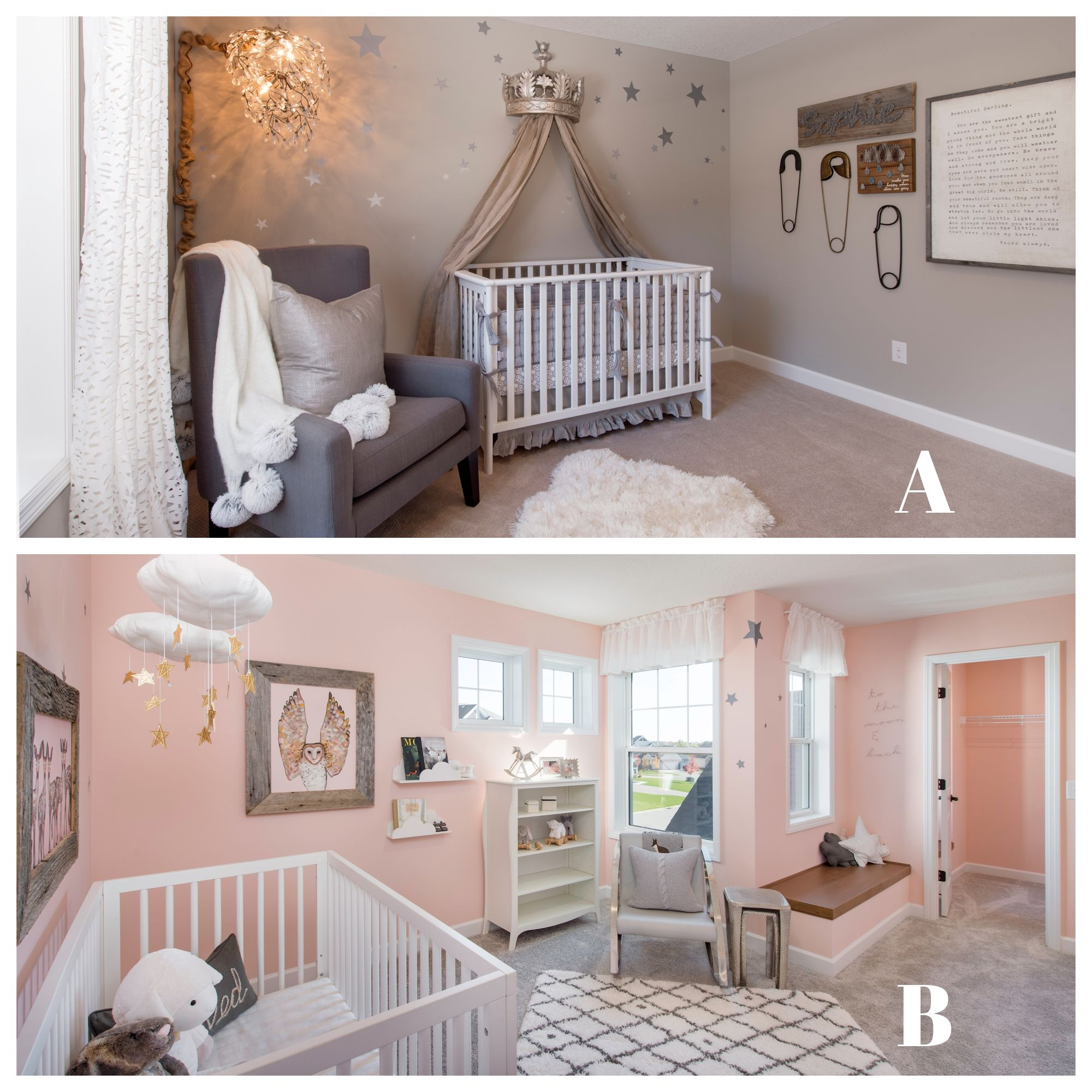 Which Nursery Design Do You Like Better Minnesota Home New Homes For Sale New Homes