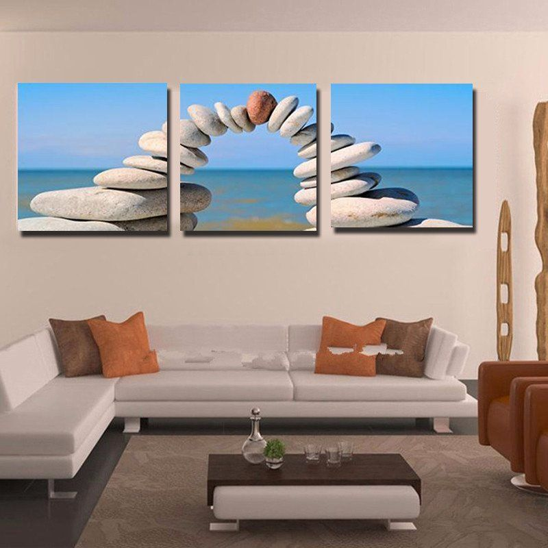 Stone Seascape Canvas Prints Wall Art Decor Pictures Living Room