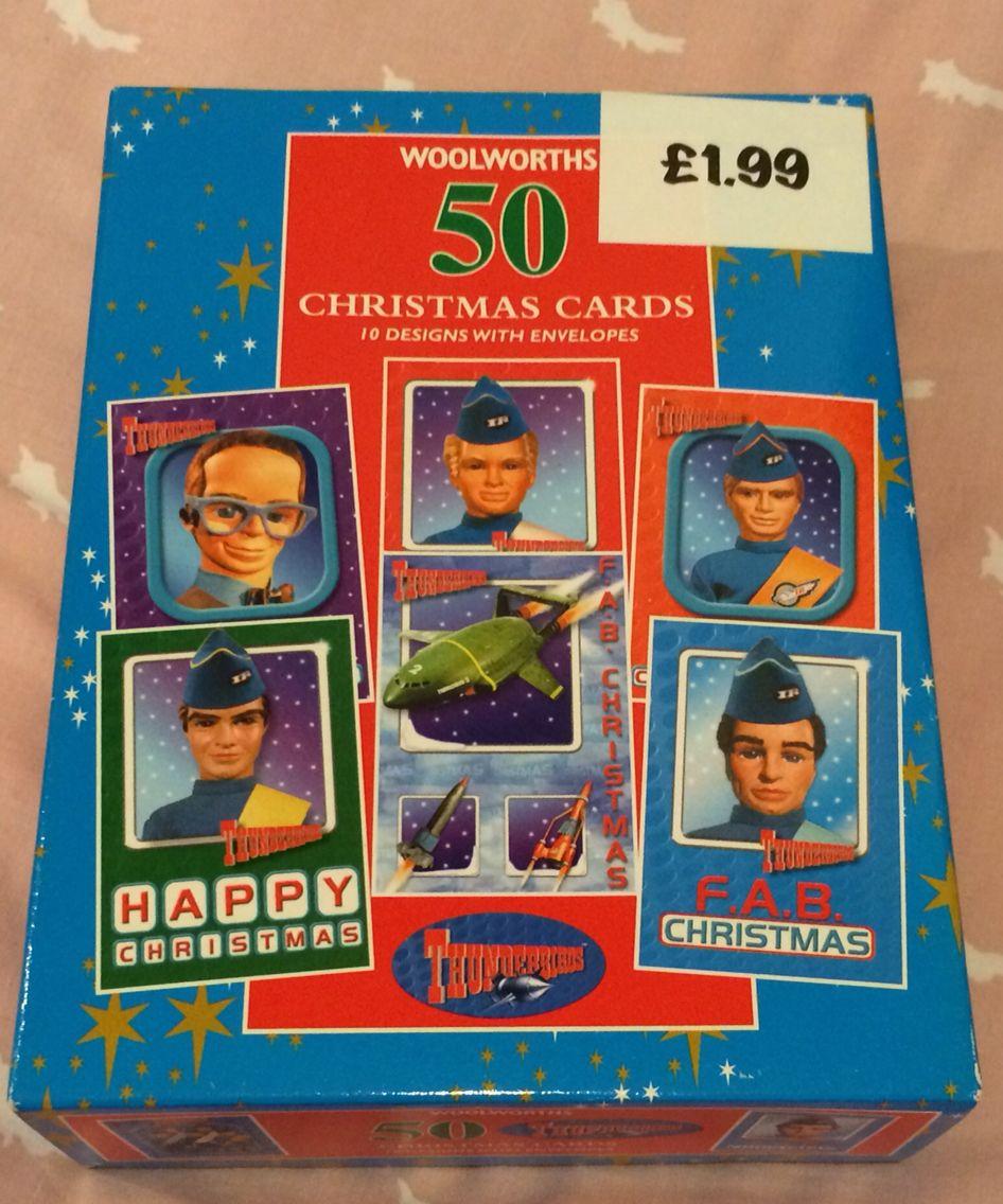 Thunderbirds Woolworths 50x Christmas Cards Christmas