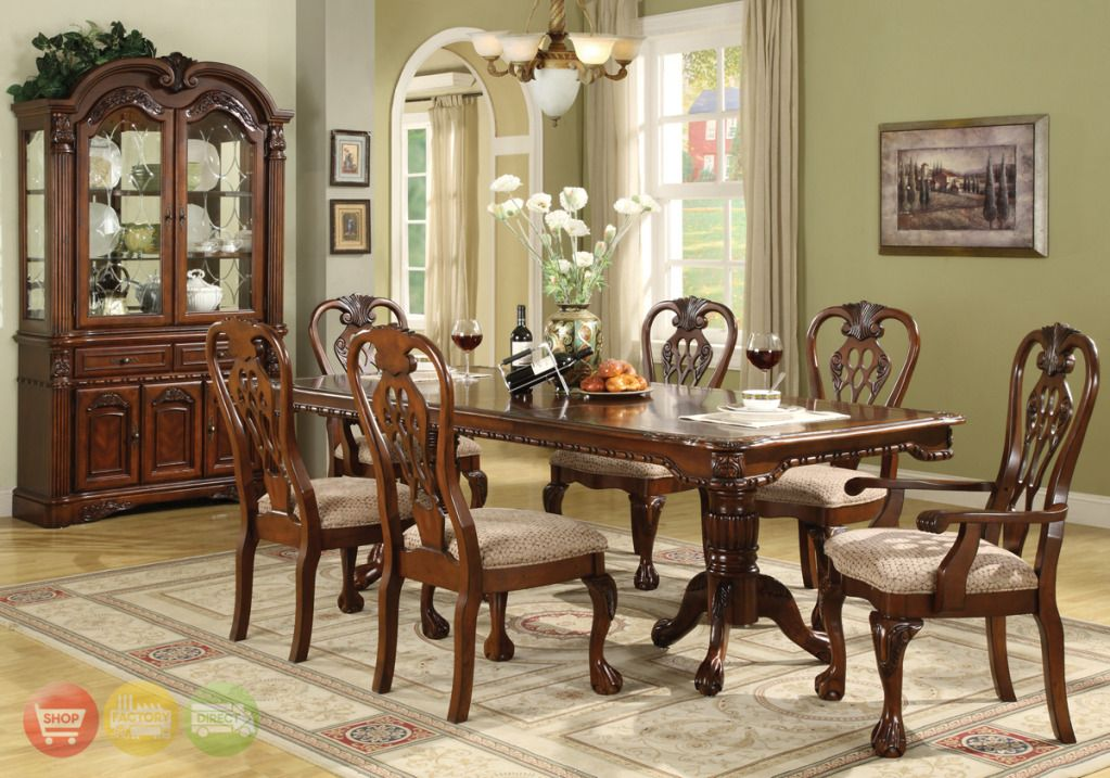 Lovely Formal Luxury Traditional 9Pc Dining Set 2x15 Pictures