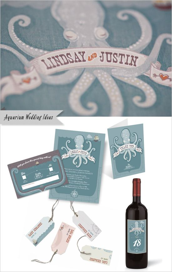 aquarium wedding invite - so cool!