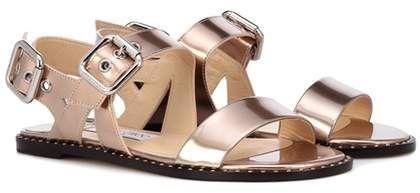 8db20a52195 Jimmy Choo Astrid Flat metallic leather sandals. Disclosure  My pins are  affiliate links