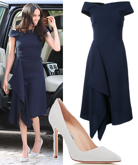 45394e51e7d 18 May 2018 - What Meghan Markle wore on eve of Royal Wedding. Click for  outfit details