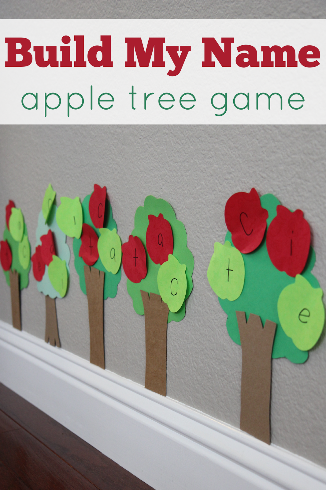 Build My Name Apple Tree Game Apple activities, Name