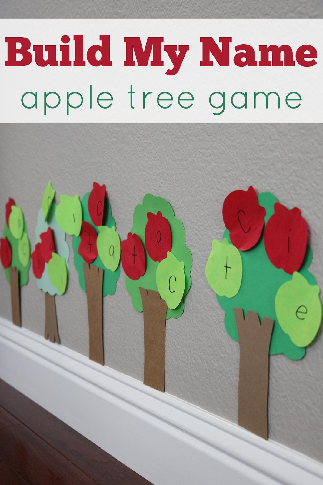 Build My Name Apple Tree Game