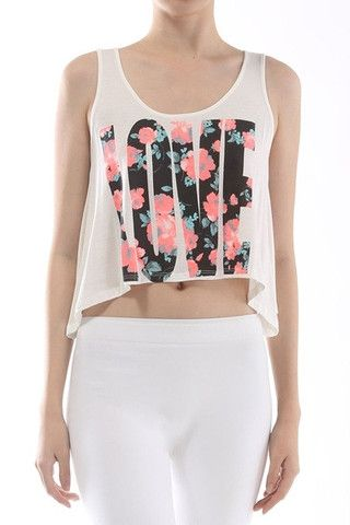 c87229fdad06d5 Love Floral Crop Tank Top – Shirtster Shop