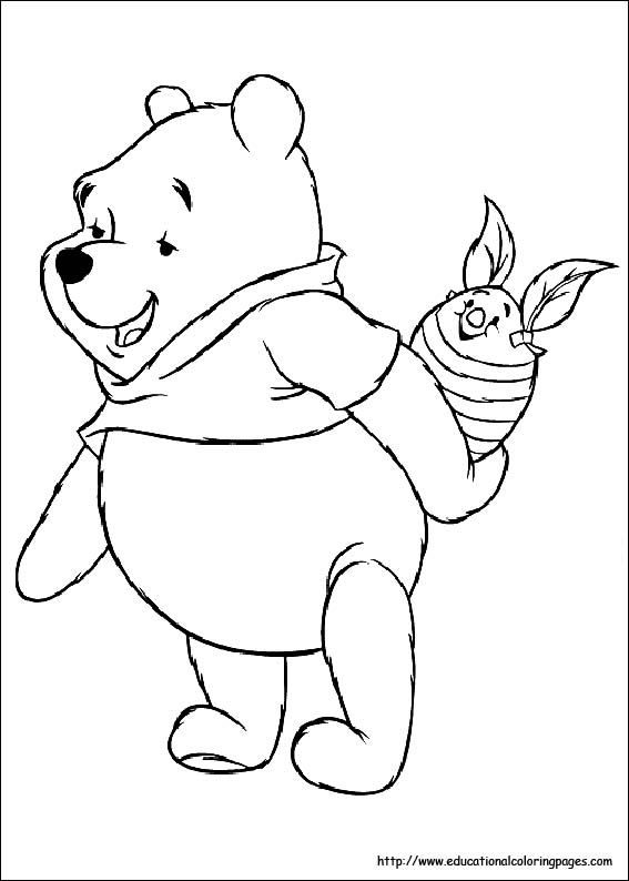 Winnie the Pooh Easter coloring page | 5.03 | Pinterest