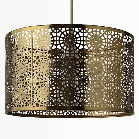 Where To Buy Lamp Shades Classy Buy John Lewis Eila Cutwork Shade Brass Online At Johnlewis Design Inspiration