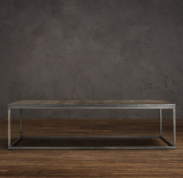 Metal Parquet Coffee Table Via Restoration Hardware