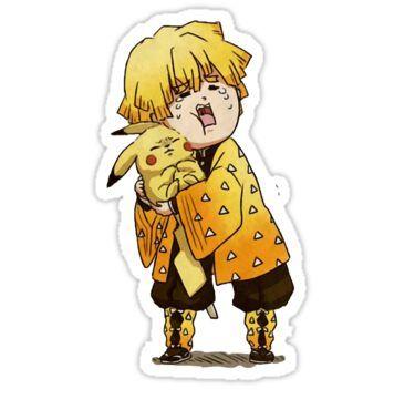 Zenitsu Sticker Sticker By Francesco2m In 2021 Anime Stickers Cute Stickers Preppy Stickers