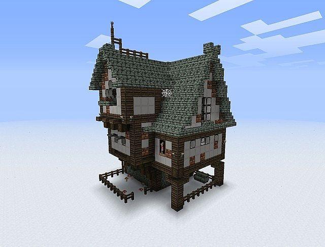 House. Roof design, small garden, window trim.   minecraft ...