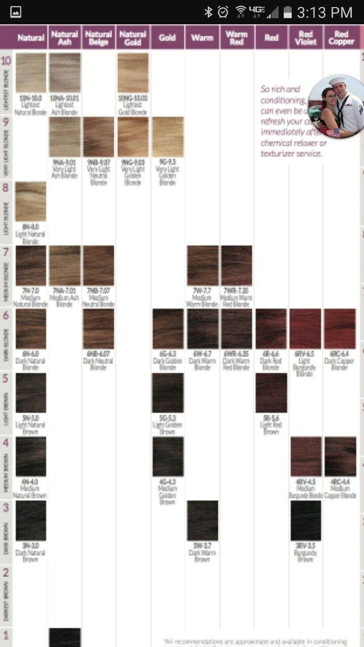 Ion brilliance demi permanemt color chart also tintes pinterest rh